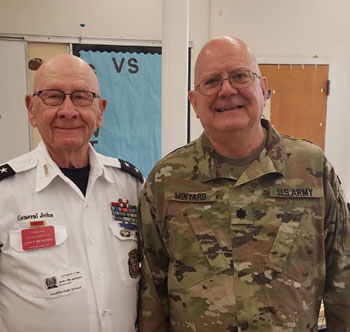 MG McWaters and LTC Minyard